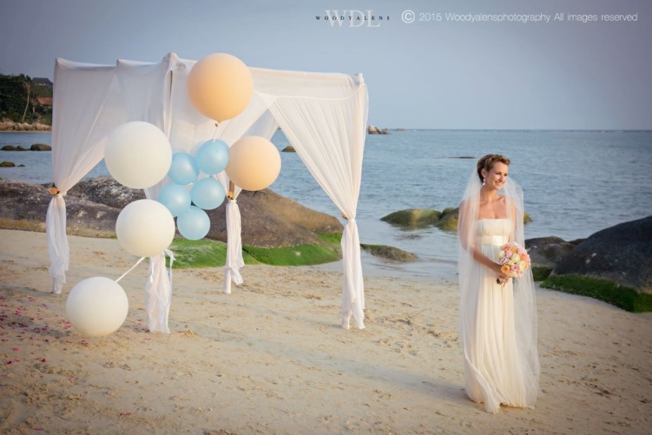 Bride and her beach